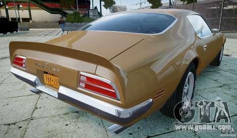 Pontiac Firebird 1970 for GTA 4 back left view