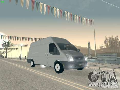 Ford Transit Jumbo 350L 2009 for GTA San Andreas back left view