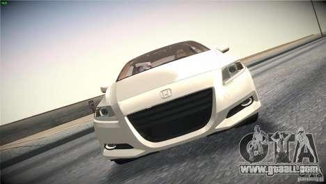 Honda CR-Z 2010 V1.0 for GTA San Andreas upper view