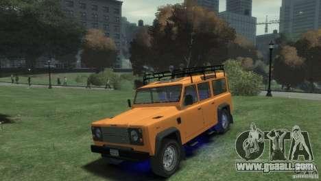 Land Rover Defender Station Wagon 110 for GTA 4