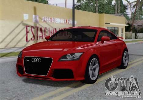 Audi TT-RS Coupe for GTA San Andreas bottom view