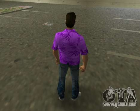 Violet shirt for GTA Vice City third screenshot