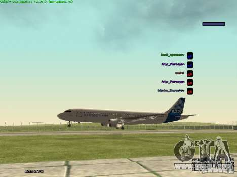 Airbus A320-300 for GTA San Andreas right view