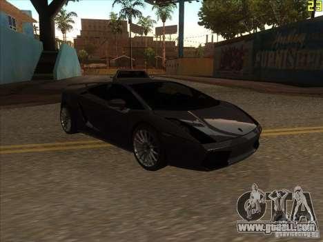 Lamborghini Gallardo Superleggera 2006 for GTA San Andreas