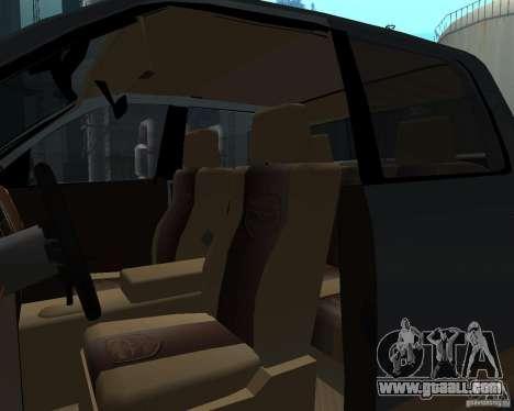 Dodge Ram Hemi for GTA San Andreas inner view