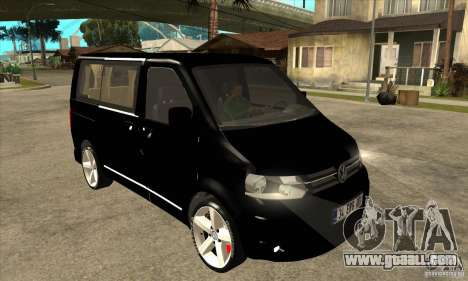 Volkswagen Caravelle 2011 SWB for GTA San Andreas back view