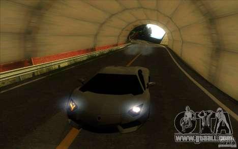 Lamborghini Aventador LP700-4 for GTA San Andreas interior