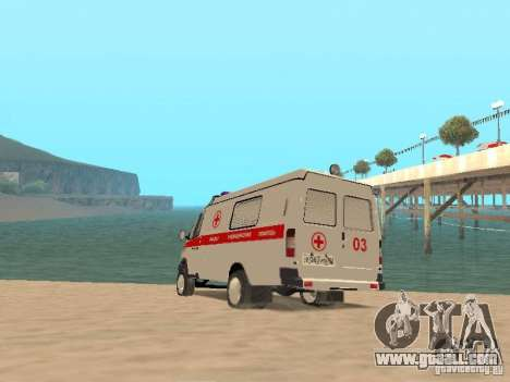 Gazelle 2705 ambulance for GTA San Andreas back left view
