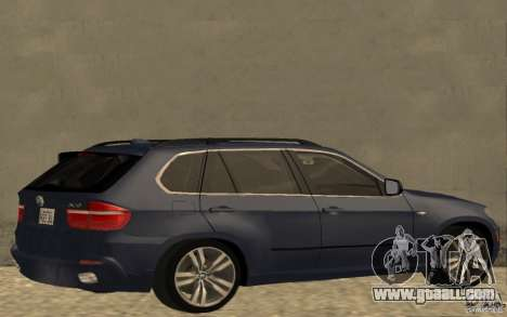 BMW X5 M 2009 for GTA San Andreas back left view