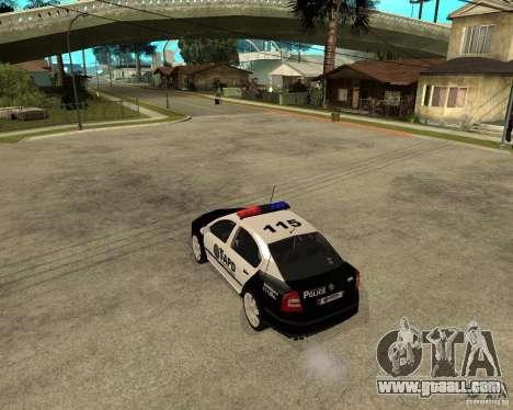Skoda Octavia II 2005 SAPD POLICE for GTA San Andreas back left view