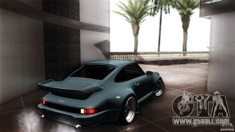 Porsche 911 Turbo RWB DS for GTA San Andreas back left view