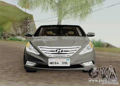 Hyundai Sonata 2012 for GTA San Andreas back left view
