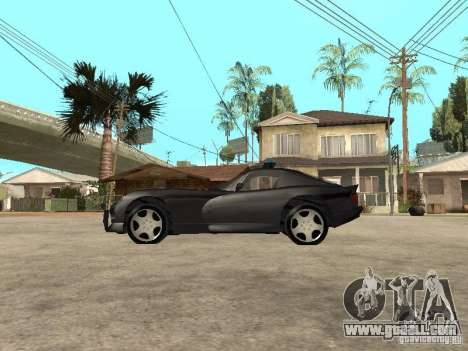 Dodge Viper Police for GTA San Andreas left view