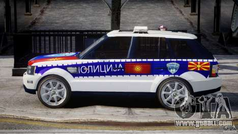 Range Rover Macedonian Police [ELS] for GTA 4 left view