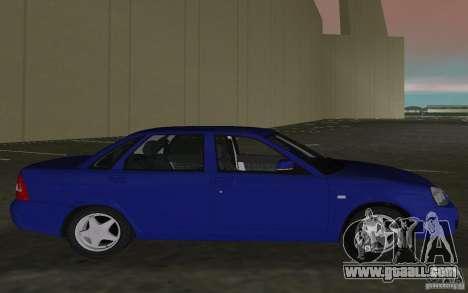 Lada 2170 Priora for GTA Vice City right view