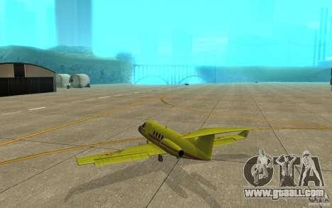 Shamal 1.0 Final for GTA San Andreas right view