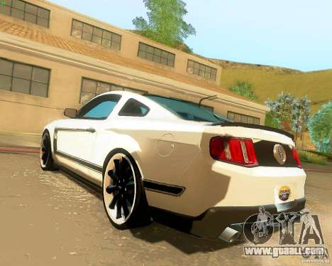 Ford Mustang Boss 302 2011 for GTA San Andreas left view