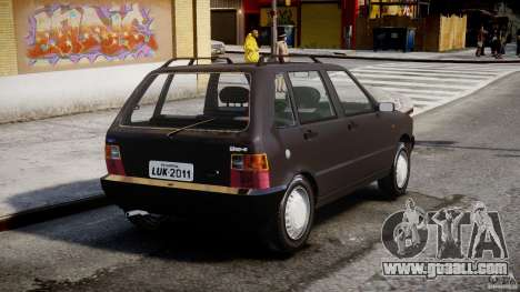 Fiat Uno 70SX 1989-1993 for GTA 4 back left view