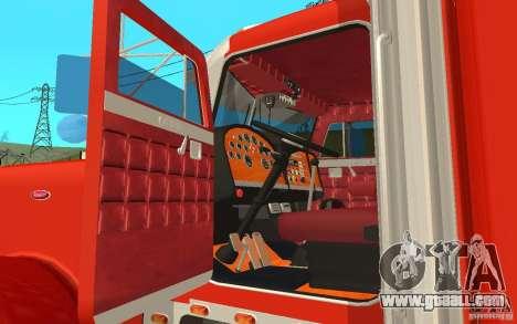 Peterbilt 379 Custom Coca Cola for GTA San Andreas back view