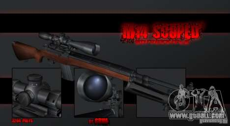 M14 Sniper for GTA San Andreas second screenshot