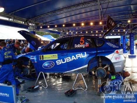 New vinyl to Subaru Impreza WRX STi for GTA San Andreas back view