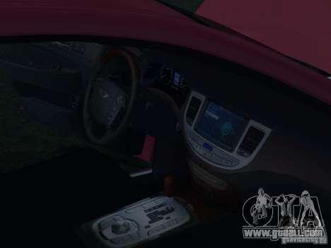 Hyundai Genesis for GTA San Andreas interior