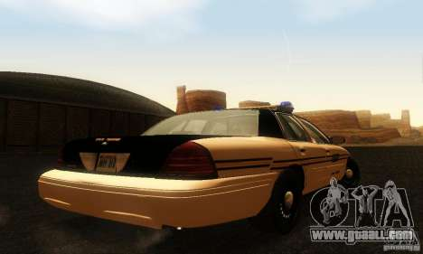 Ford Crown Victoria Tennessee Police for GTA San Andreas left view