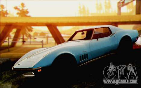Chevrolet Corvette C3 Stingray T-Top 1969 for GTA San Andreas right view