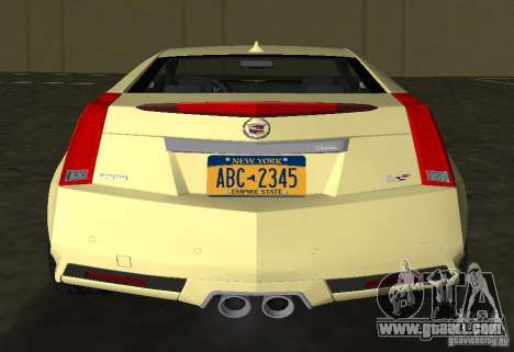 Cadillac CTS-V Coupe for GTA Vice City back view