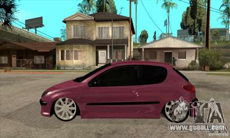 Peugeot 206 Suspen AR for GTA San Andreas left view
