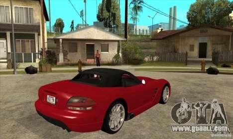 Dodge Viper SRT-10 for GTA San Andreas right view