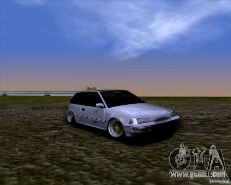 Honda Civic EF9 Hatch Stock for GTA San Andreas right view