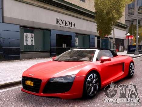 Audi R8 Spyder 5.2 FSI quattro V4 EPM for GTA 4 side view