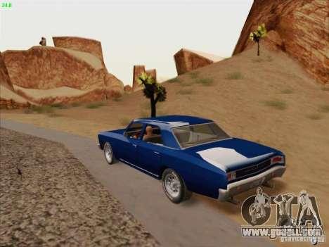 Chevrolet Chevelle for GTA San Andreas inner view