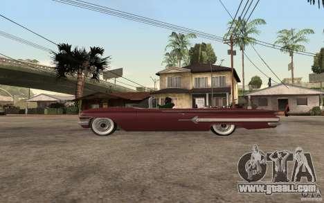 Chevrolet Impala 1960 for GTA San Andreas left view