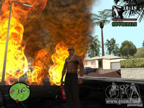 New fire extinguisher for GTA San Andreas forth screenshot