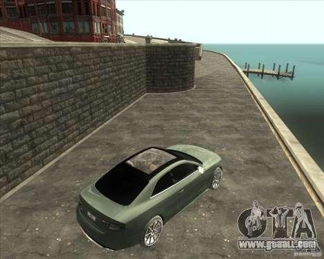 Audi S5 V8 custom 2008 for GTA San Andreas left view