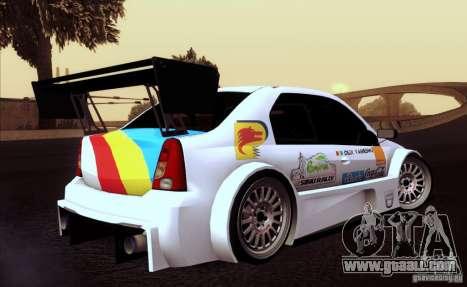 Dacia Logan Trophy Edition 2005 for GTA San Andreas inner view