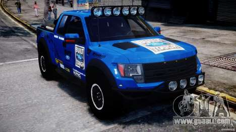 Ford F150 Racing Raptor XT 2011 for GTA 4 back view