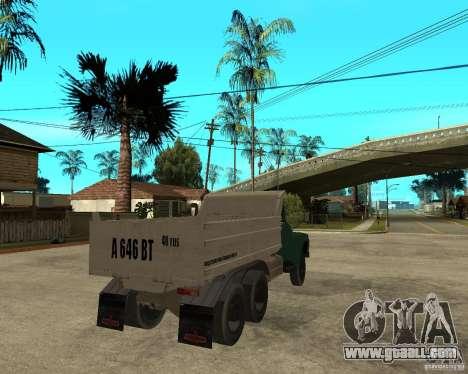 ZIL 133 dump truck for GTA San Andreas back left view