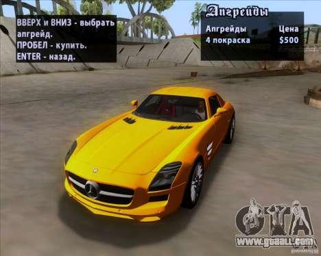 Mercedes-Benz SLS AMG V12 TT Black Revel for GTA San Andreas bottom view