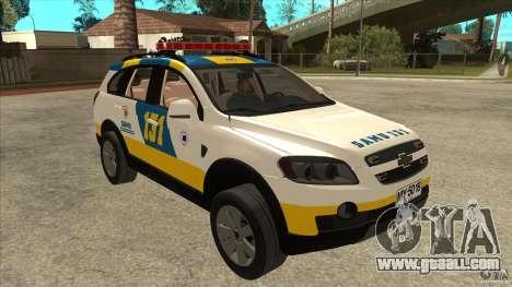 Chevrolet Captiva Police for GTA San Andreas back view