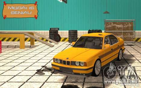BMW E34 535i Taxi for GTA San Andreas inner view