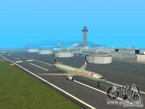 Boeing 767-300 Air Canada for GTA San Andreas left view