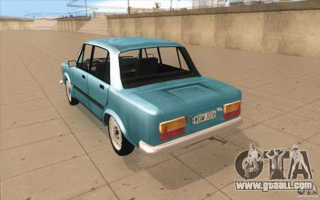 Fiat 125p for GTA San Andreas back left view