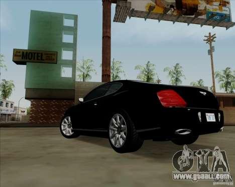 Bentley Continental GT V1.0 for GTA San Andreas interior
