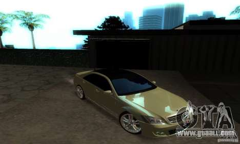 Mercedes-Benz S500 W221 Brabus for GTA San Andreas inner view