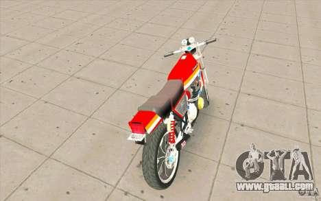 Kawasaki Z400FX for GTA San Andreas back left view