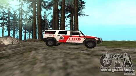 HUMMER H2 Amulance for GTA San Andreas left view