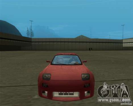 Mazda RX-7 weapon war for GTA San Andreas back left view